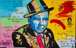 Director's Notes: Frank Sinatra PinturadeAlvaro Linares Cuadrado  Compra arte en Flecha.es