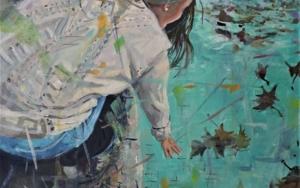 La piscina en otoño PinturadeAmaya Fernández Fariza  Compra arte en Flecha.es