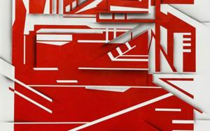 Red post industrial landscape|PinturadeJesús Zuazo| Compra arte en Flecha.es