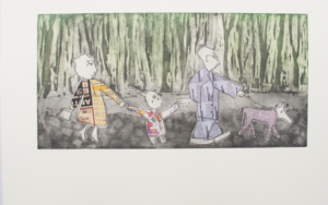 PASEO DOMINICAL -Serie FELIZ DOMINGO Obra gráficadeAna Valenciano  Compra arte en Flecha.es