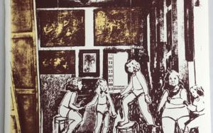 Un rato antes de llegar Velázquez . Versión en serigrafía Obra gráficadeAna Valenciano  Compra arte en Flecha.es