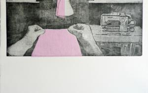 La prueba de la modista|Obra gráficadeAna Valenciano| Compra arte en Flecha.es