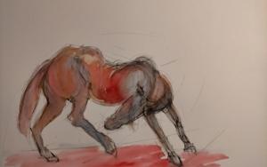 Caballo|DibujodeOliverPlehn-Artist| Compra arte en Flecha.es