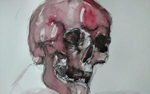 Weinender Schädel (cráneo llorando) DibujodeOliverPlehn-Artist  Compra arte en Flecha.es
