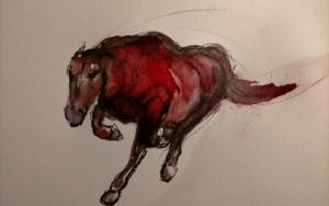 Running Horse|DibujodeOliverPlehn-Artist| Compra arte en Flecha.es