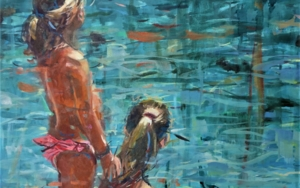 Niñas al sol PinturadeAmaya Fernández Fariza  Compra arte en Flecha.es
