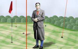 """ Archer fuckingslice II en Chingford golf course "" CollagedeGabriel Aranguren  Compra arte en Flecha.es"