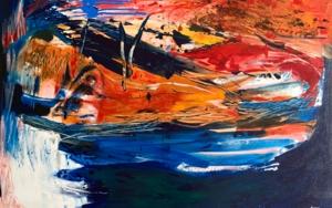Recogiendo a Los Sueños|PinturadeLika Shkhvatsabaia| Compra arte en Flecha.es