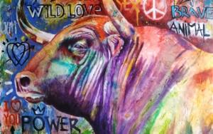 Toro Urbano|PinturadeCarlos Anabeil| Compra arte en Flecha.es