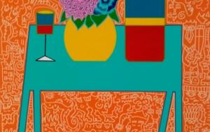 La mesa azul / The blue table PinturadePhilip Verhoeven  Compra arte en Flecha.es