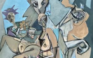Fiesta de disfraces|PinturadeOscar Leonor| Compra arte en Flecha.es