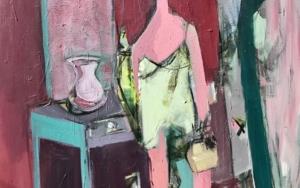 Mujer y tocador|PinturadeOscar Leonor| Compra arte en Flecha.es