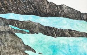 Agua y roca PinturadeMilena Mateva  Compra arte en Flecha.es