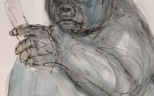 Gorila DibujodeOliverPlehn-Artist  Compra arte en Flecha.es
