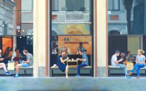 Bar San antonio PinturadeJose Belloso  Compra arte en Flecha.es