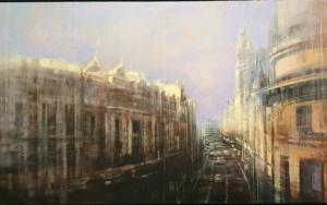 Vista de la Gran Vía PinturadeCristina Bergoglio  Compra arte en Flecha.es