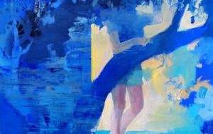Cabaña azul PinturadeCarmen Montero  Compra arte en Flecha.es