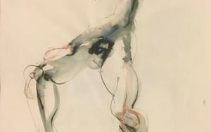 Desnudo en Hache DibujodeJaelius Aguirre  Compra arte en Flecha.es