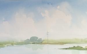 Rio Meghna, Bangladesh|PinturadeIñigo Lizarraga| Compra arte en Flecha.es