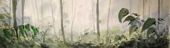 Bosque de Bangladesh | Pintura de Iñigo Lizarraga | Compra arte en Flecha.es