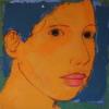 """AZUL""   Pintura de Eduardo Salazar   Compra arte en Flecha.es"