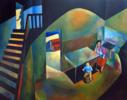 Casa de la infancia | Pintura de Fernando Charro | Compra arte en Flecha.es