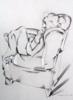 mujer escuchando música | Dibujo de Miguel Mansanet | Compra arte en Flecha.es