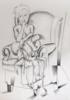 mujer preocupada   Dibujo de Miguel Mansanet   Compra arte en Flecha.es