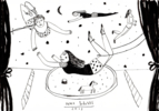 Trapecistas | Dibujo de Inma Lorente | Compra arte en Flecha.es