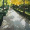 Entrando al Retiro II   Pintura de Juan Manuel Campos Guisado   Compra arte en Flecha.es