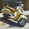 motocicleta | Pintura de MBravoBecerra | Compra arte en Flecha.es