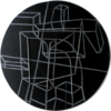 Constelación sobre negro | Escultura de pared de Manuel Sánchez-Algora | Compra arte en Flecha.es
