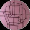 Constelación sobre  rosa | Escultura de pared de Manuel Sánchez-Algora | Compra arte en Flecha.es