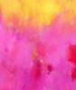 Pink against yellow | Pintura de Luis Medina | Compra arte en Flecha.es