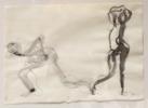 Dos Figuras | Dibujo de Jaelius Aguirre | Compra arte en Flecha.es