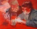 AMIGOS DE BARRA | Pintura de Bianca Demo | Compra arte en Flecha.es