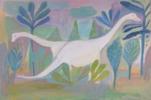 Los dinosaurios felices | Ilustración de Iria | Compra arte en Flecha.es
