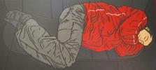 Negro y Rojo   Pintura de Cova Mejía   Compra arte en Flecha.es