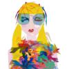 Ella y sus flores   Dibujo de Mariana sanz POPNTOPMAD   Compra arte en Flecha.es