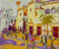 Hacia la corrida | Pintura de José Bautista | Compra arte en Flecha.es
