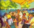 Jalapeños y aros de cebolla | Pintura de José Bautista | Compra arte en Flecha.es