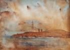 Faro de los ahorcados | Pintura de Miguel Ángel García López | Compra arte en Flecha.es