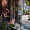 La chica y el zorro | Pintura de Marta Albarsanz | Compra arte en Flecha.es