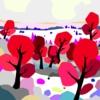 Árboles rojos   Digital de ALEJOS   Compra arte en Flecha.es