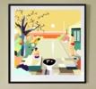 La piscina del hotel | Dibujo de ALEJOS | Compra arte en Flecha.es