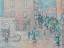 Calle deHuertas   Pintura de Guillermo Serrano de Entrambasaguas   Compra arte en Flecha.es