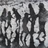 Tarde en la playa negro | Pintura de Alvaro Sellés | Compra arte en Flecha.es