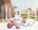 Desayuno con manzanas II | Pintura de Javier AOIZ ORDUNA | Compra arte en Flecha.es