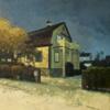 Luces y sombras en una noche de invierno | Pintura de Orrite | Compra arte en Flecha.es