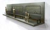 El banco que espera al tren III | Escultura de Marta Sánchez Luengo | Compra arte en Flecha.es
